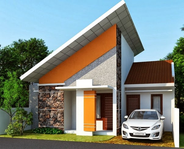 Sketsa Desain Rumah Mungil Minimalis Modern 2017