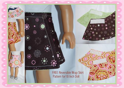 Dream Dress Play 18 Quot Doll Reversible Wrap Skirt Free