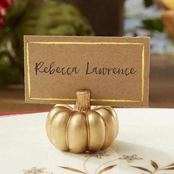 Wedding Place Card Holder Ideas: Fall Wedding Guest Souvenir Ideas