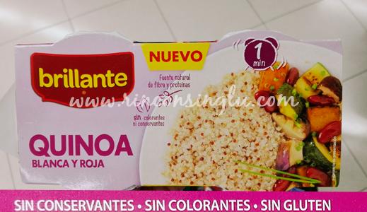 quinoa sin gluten brillante