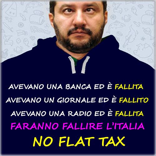 La Flat Tax farà fallire l'Italia