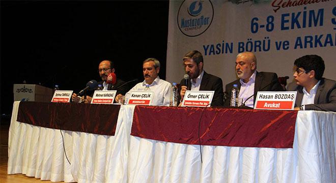 6-8 Ekim vahşetinin perde arkası panelle anlatıldı