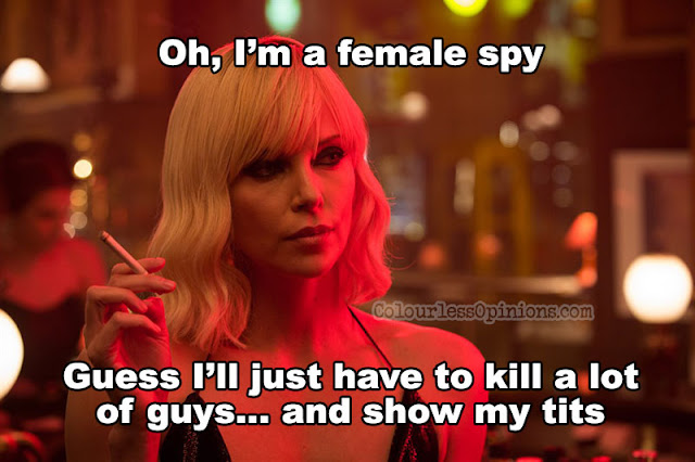 atomic blonde theron meme