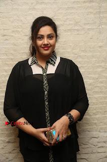 Tamil Actress Meena Latest Stills in Black Dress at TSR TV9 Awards Press Meet  0017.JPG