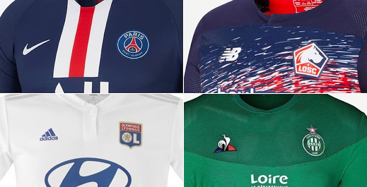best loved b6792 526c4 All 19-20 Ligue 1 Kits - Overview | 58 Home, Away & Third ...