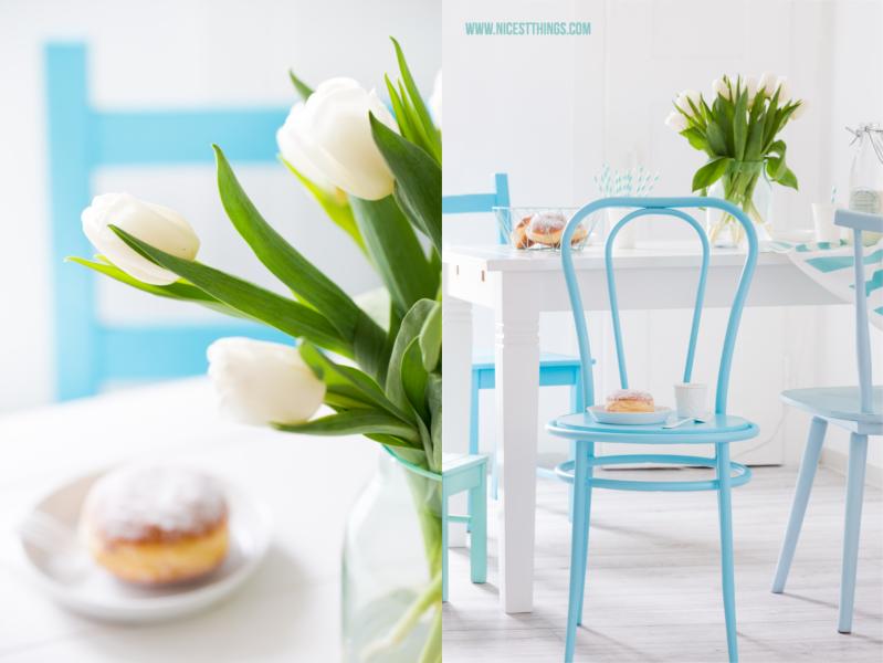 DIY Stuehle im Ombre Look mit Spruehfarbe lackieren