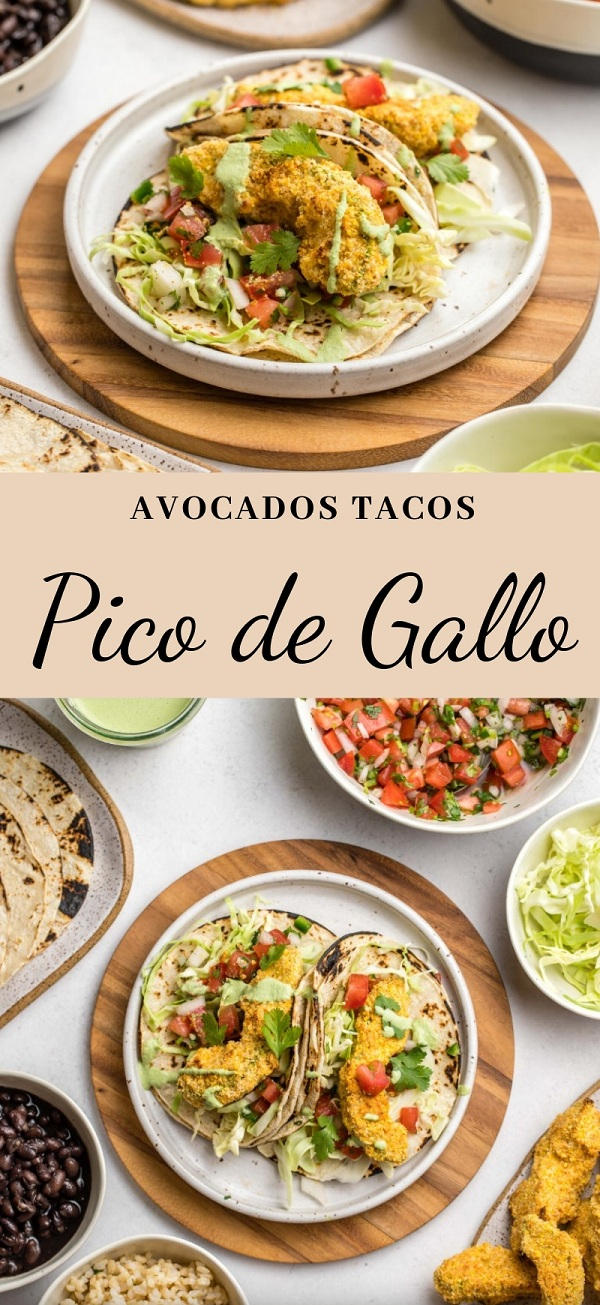 Avocados Tacos with Pico de Gallo