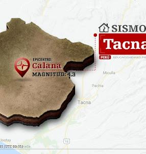 Temblor en Tacna de 4.3 Grados (Hoy Sábado 23 Septiembre 2017) Sismo EPICENTRO Calana - Tarata - IGP - www.igp.gob.pe