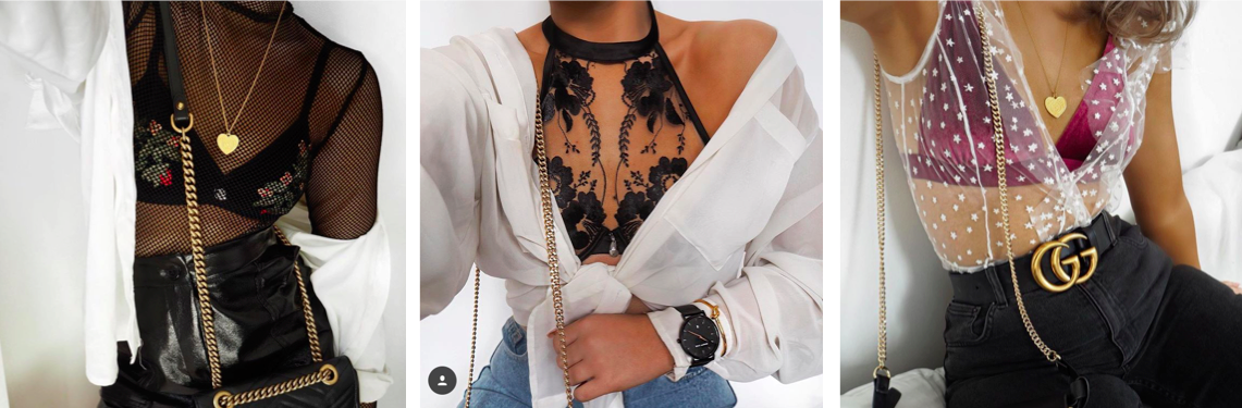 lingerie influences seen on instagram, underwear as outerwear fashion blogger
