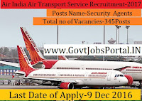 Air India Air Transport Services Limited Recruitment -2017