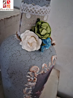 botella shabby chic