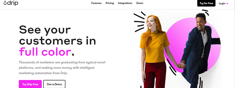 Drip lets you create personalised marketing campaigns for people, not robots