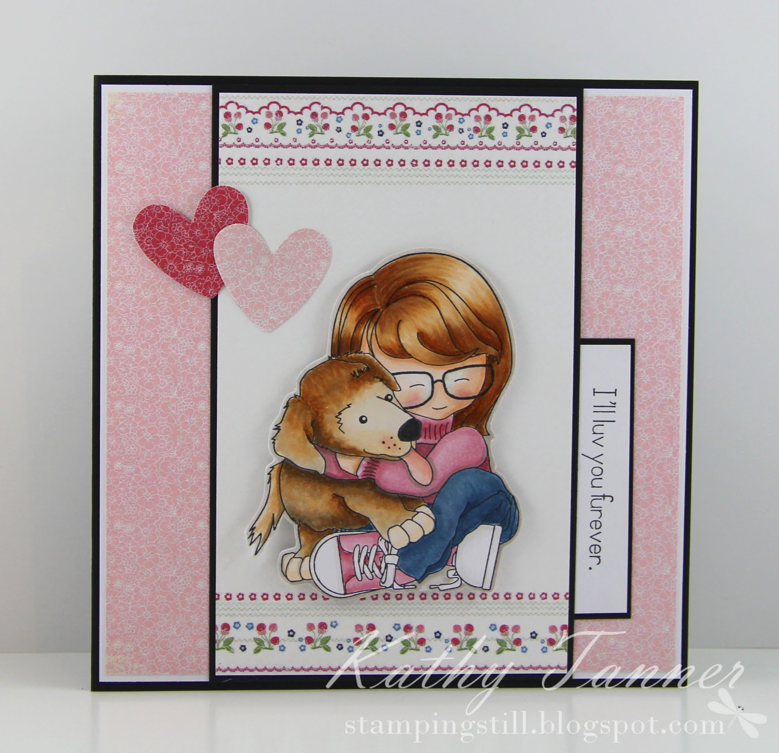 Ciara and Sandy, Sandy Allnock, whimsy stamps