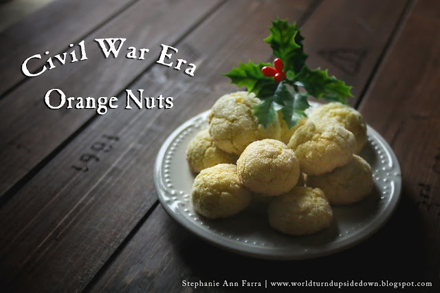 Civil War Era Cookie Recipe Orange Nuts 1865