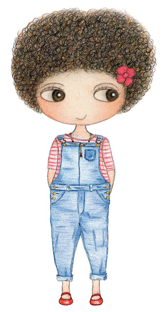 today I'm wearing, What I wore today, Little Curly, fashion illustrations, kids, paper doll, dress me up