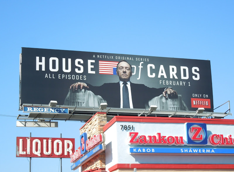 House of Cards season 1 billboard