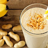 Banana Smoothie and Peanut Butter Bowl