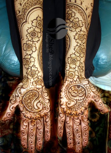 Bridel Fashion Trend And Girls Fashion Full Arabic Mehndi