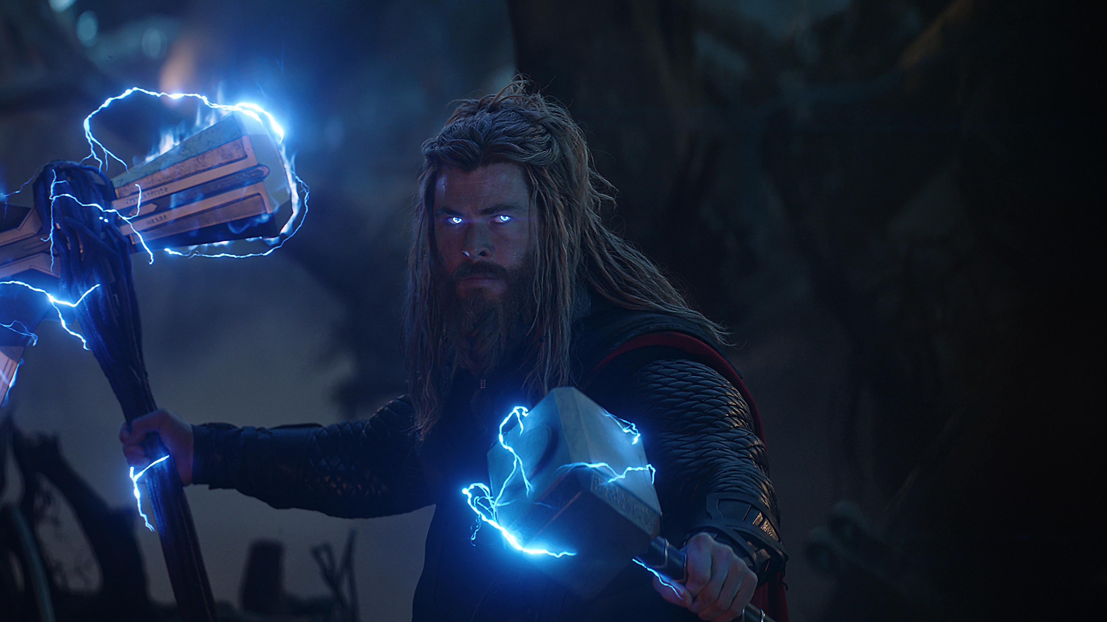 Avengers Endgame Thor Stormbreaker Mjolnir Lightning 8k Wallpaper 173
