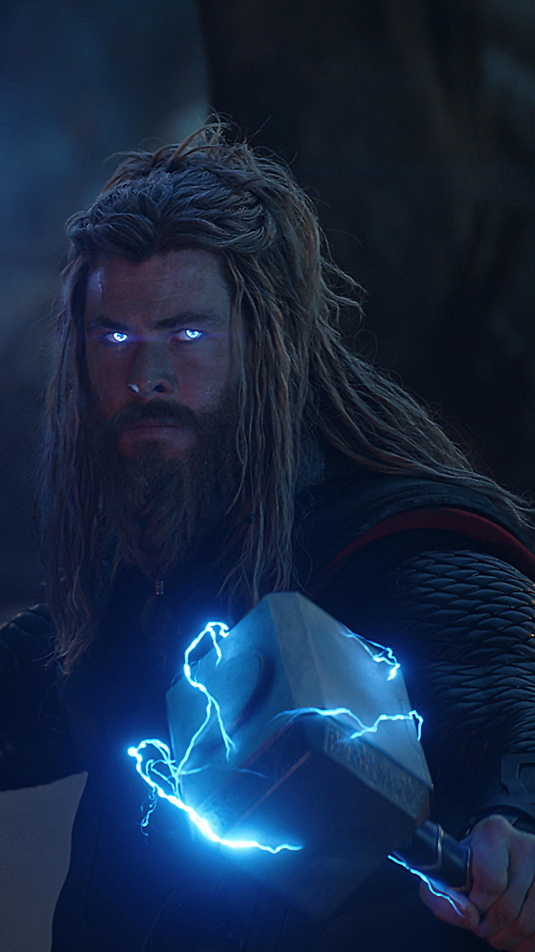 Avengers Endgame Thor Stormbreaker Mjolnir Lightning 8k