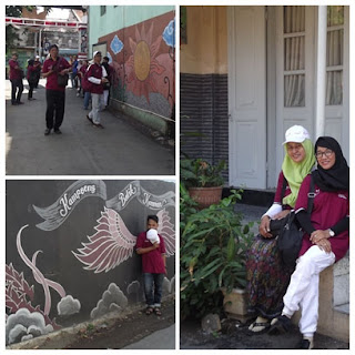 Peserta Famtrip di Kampung Batik Kauman, Pekalongan