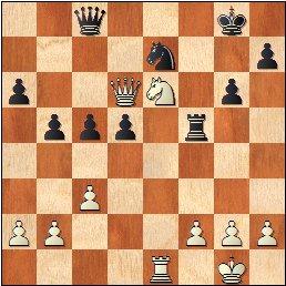 Partida Albareda - Medina, posición después de 27.Dd6