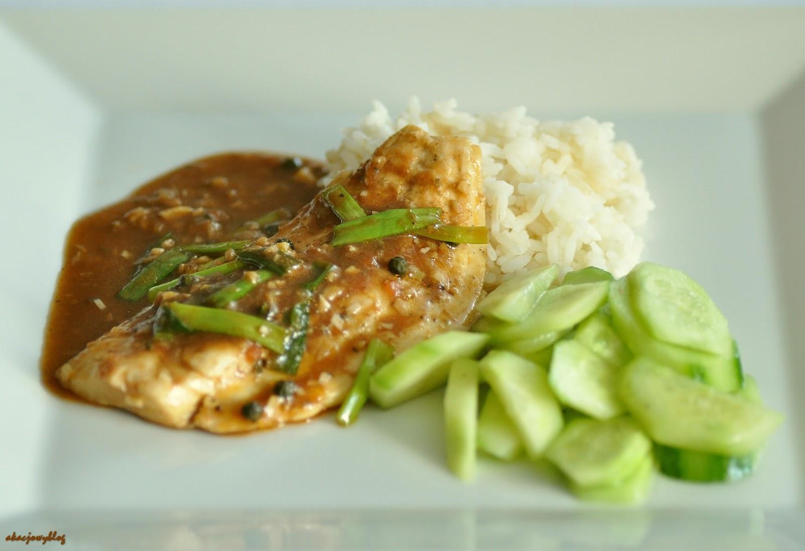 Ryba w sosie pieprzowym z Kep.