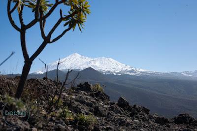 Sommet du Teide enneigé à Tenerife aux Canaries