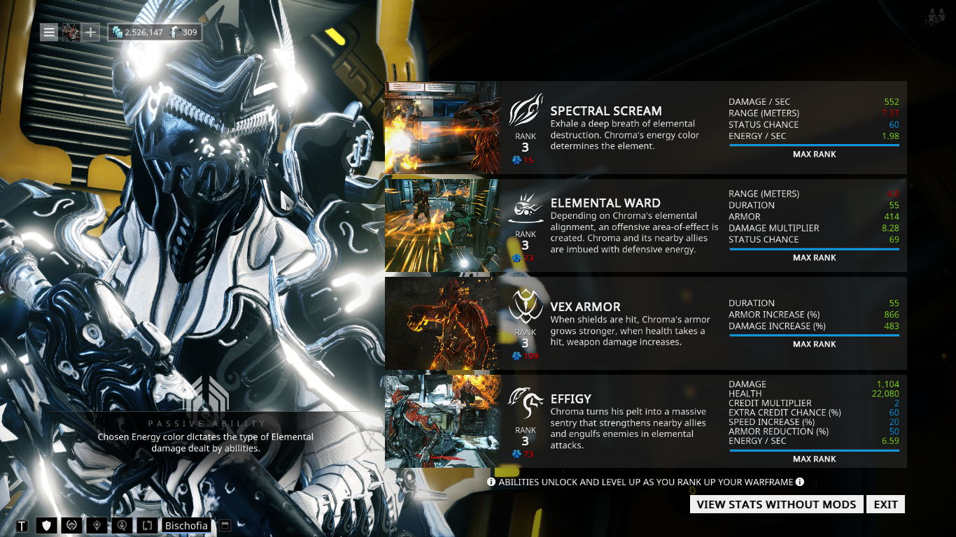 The Best Chroma Build In Warframe Overkill Chroma Build Grind Hard Squad Submitted 5 years ago * by parko1234. warframe overkill chroma build