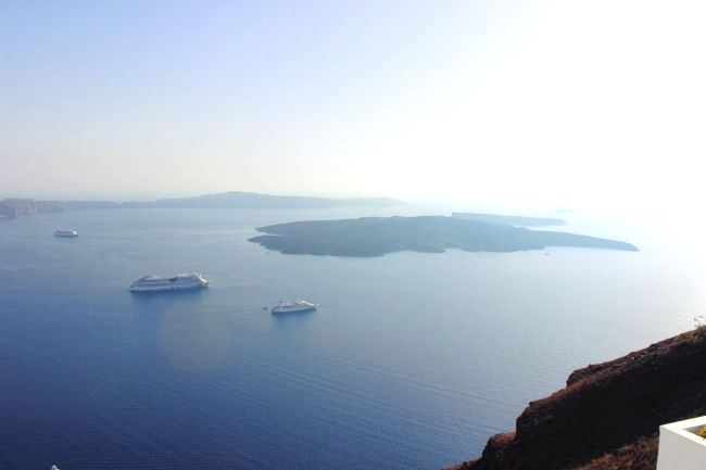 Santorini view at Kaldera