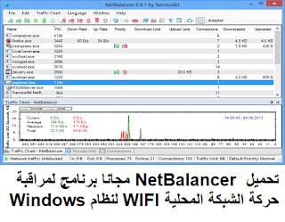 تحميل 7-12-9 NetBalancer مجانا برنامج لمراقبة حركة الشبكة المحلية WIFI لنظام Windows