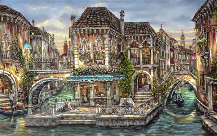 Романтические городские пейзажи. Robert Finale 15