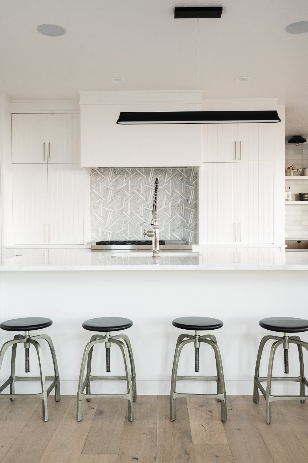 Clean Kitchen Design, Modern Barstools