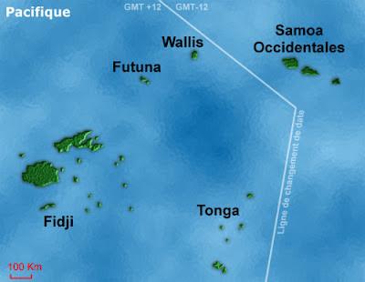 Wallis et Futuna dans le Pacifique