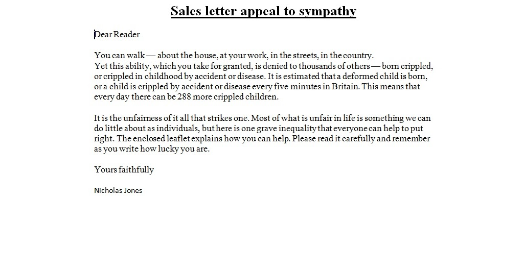Doc585600 Sales Letter Format 10 Sales Letter Templates Free – Format of Sales Letter