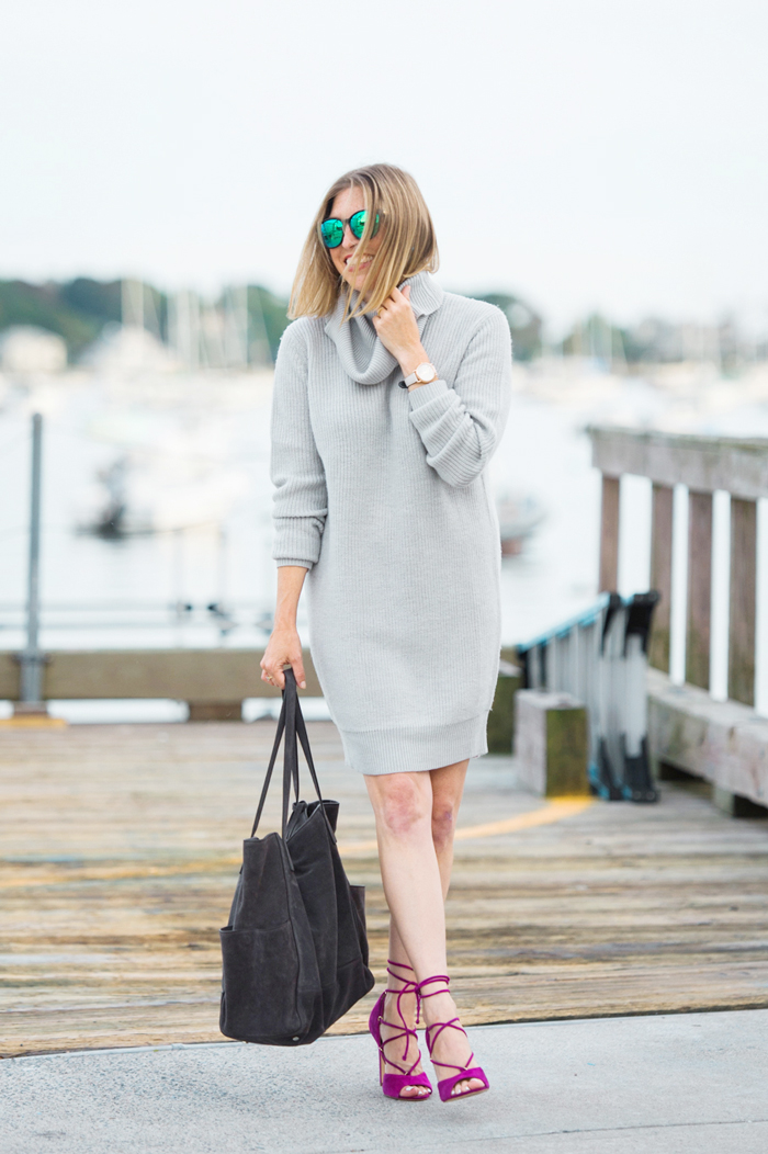 Garnet Hill cowl neck sweater dress