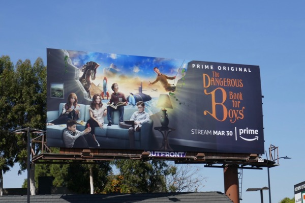 Dangerous Book for Boys series premiere billboard