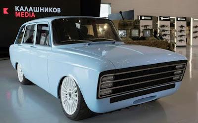 Kalashnikov dona a conèixer el 'supercotxe elèctric'
