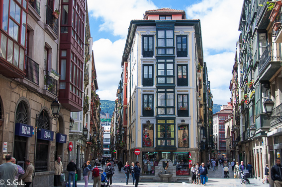 Casco viejo de Bilbao en Bilbao por una bilbaina
