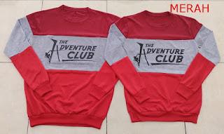 Jual Online Sweater Adventure Merah Murah Jakarta Bahan Babytery Terbaru