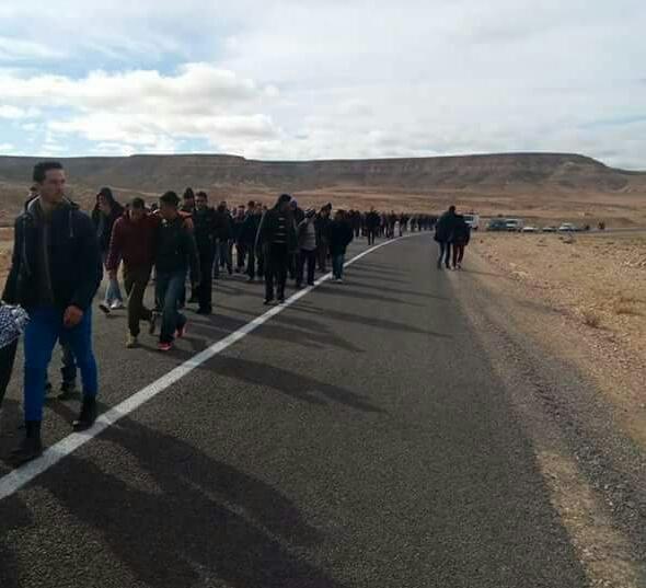 """مسيرات """"تقصد"""" جرادة يوم الإضراب.. ونشطاء يدعون للتنظيم"""
