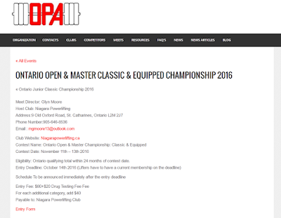 http://www.ontariopowerlifting.org/event/ontario-open-master-classic-equipped-championship-2016/