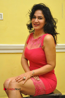 Telugu Actress Vijaya Murthy Stills in Red Short Dress at Www.Meena Bazaar Movie Opening  0078.JPG