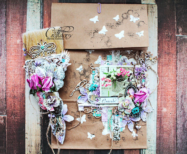 @marinasyskova #scrapbooking #scrap #alterscrap #shabbychic #alteredbrush
