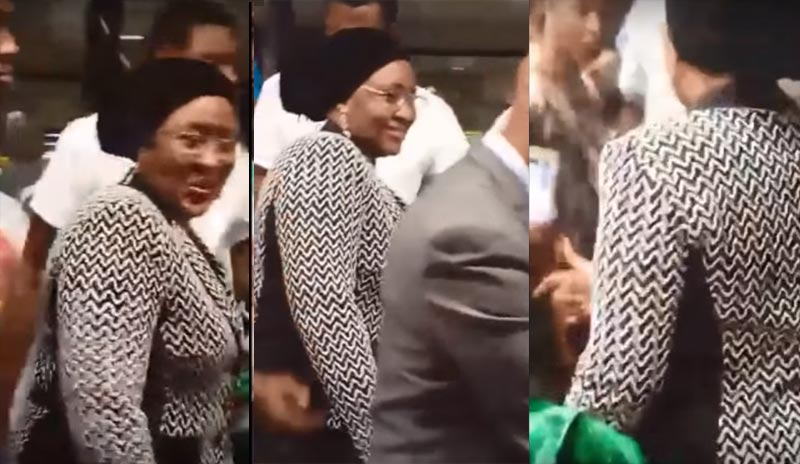 Halliburton scandal: Aisha Buhari arrives Washington, United States Of America (video)