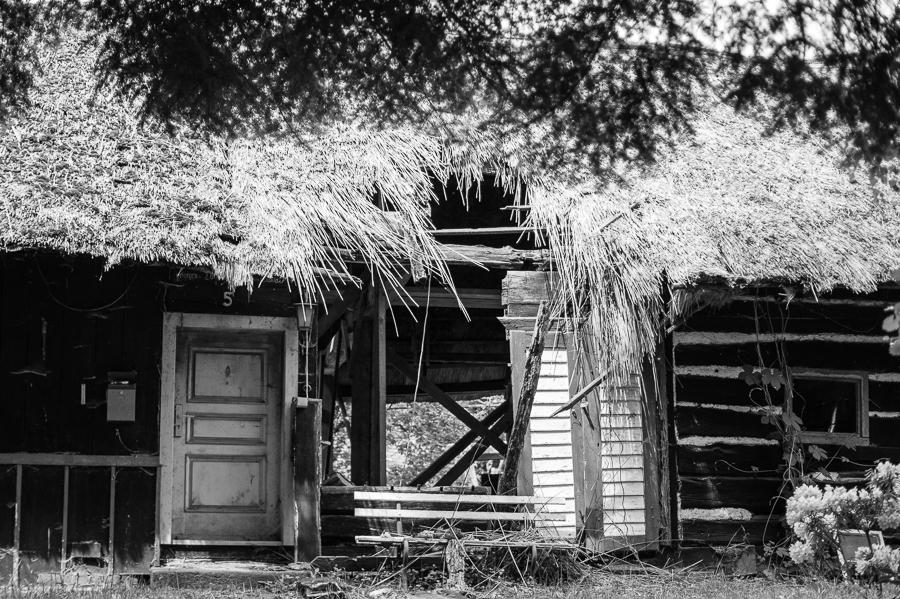 Blog + Fotografie by it's me! | fim.works | SchwarzWeissBlick No 19 | Lost Places im Spreewald, Brandenburg | verfallenes Dach eines Hauses im Spreewald
