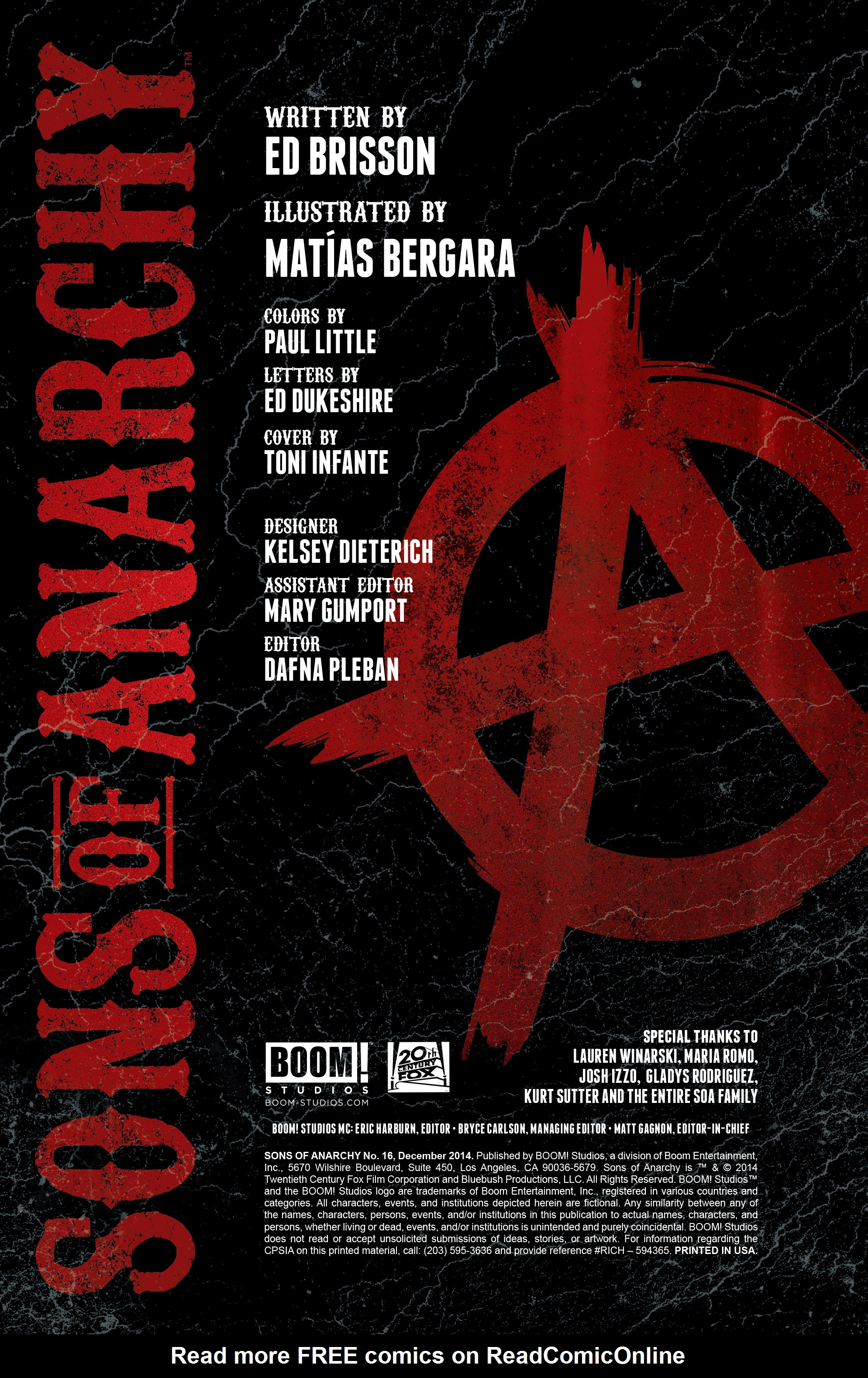 Read online Sons of Anarchy comic -  Issue #16 - 2