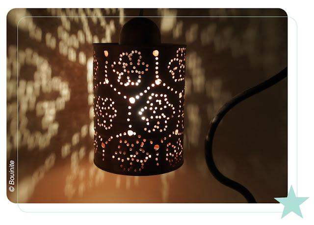 lampe, conserve, DIY, bouinite, la perle des loisirs