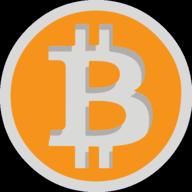 bitcoin button outline