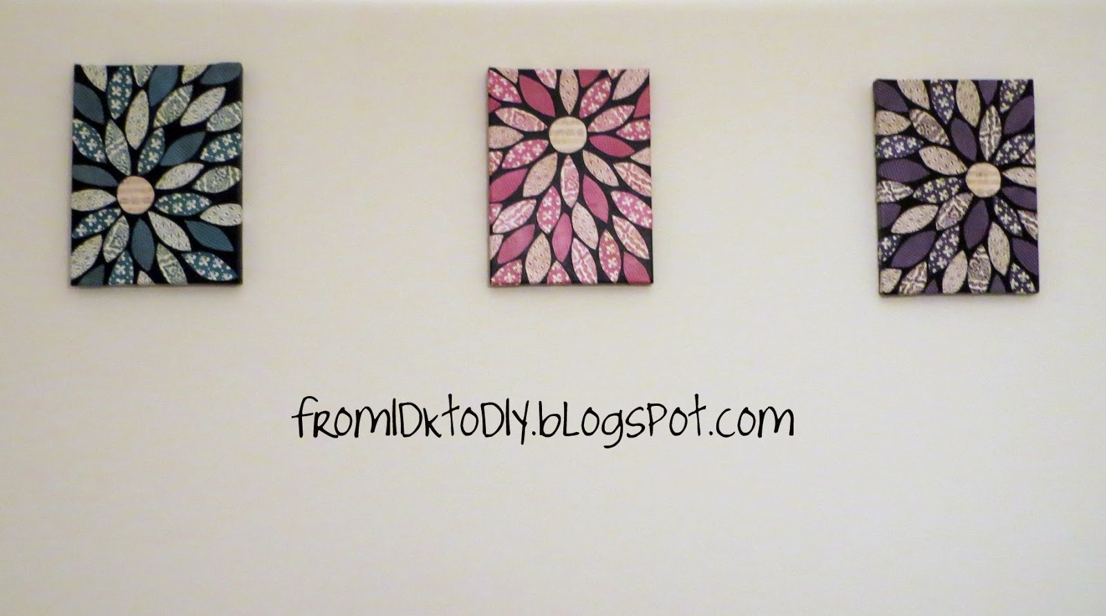 From IDK to DIY: Scrapbook Paper Wall Art - Vol. 2 and 3